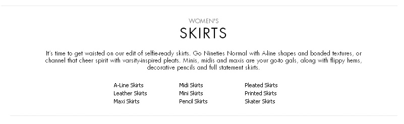 Bad examples product page. Skirt filter menu