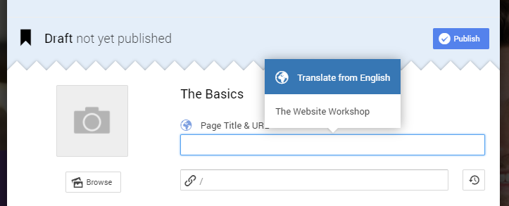 Translate page title